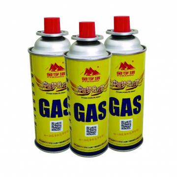 227g Round Shape Portable Butane Gas Canister for BBQ Gas Grill