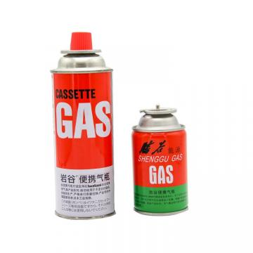 Customers Requirement Cassette Butane Gas Cylinder for hotpot disposable butane gas cans made