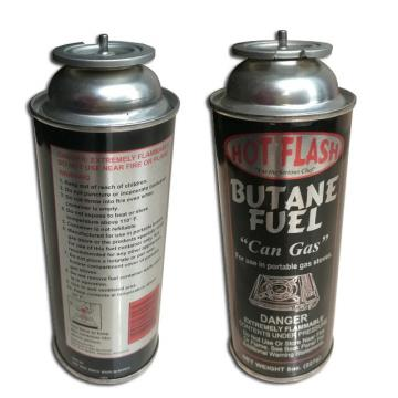 Disposable empty butane tin can for portable gas stove for camping stove