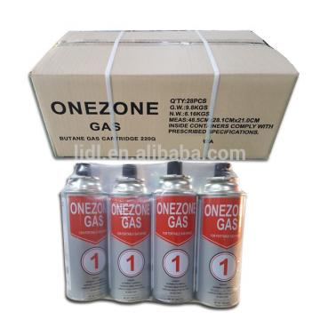 220GR NOZZLE TYPE Butane gas cartridge canister can cylinder