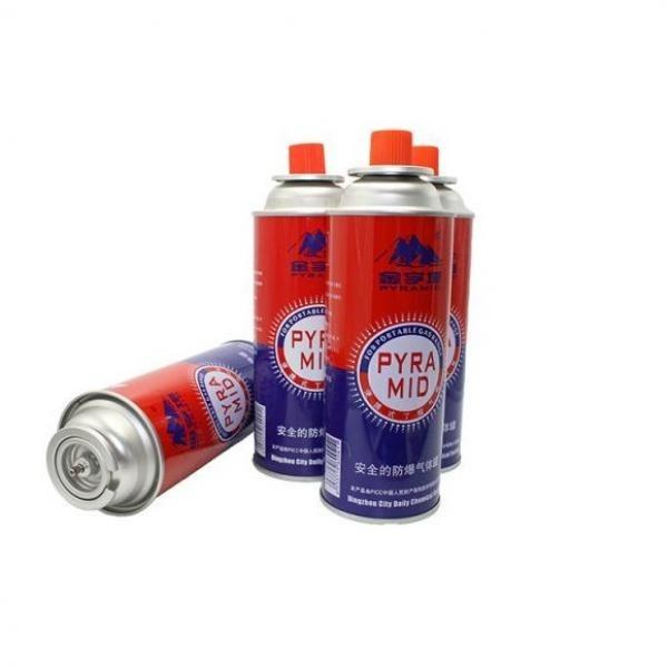 220g~250g Butane Gas Butane Gas Cartridge Aerosol Straight Can with Gas Valve #3 image