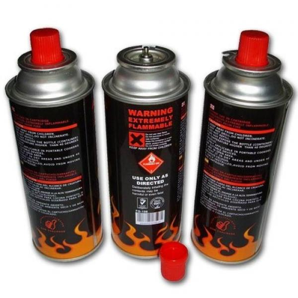 220g~250g Butane Gas Butane Gas Cartridge Aerosol Straight Can with Gas Valve #1 image